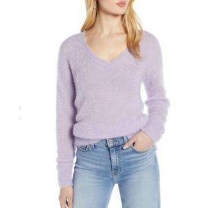 Halogen | Purple Lavender Fuzzy Secret Sweater XS